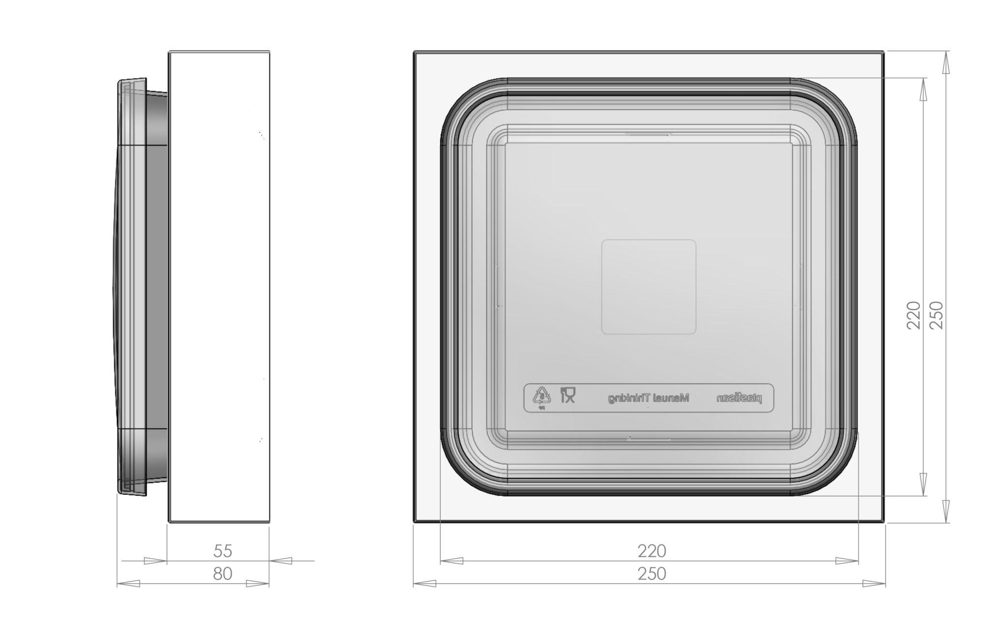 manual thinking box medidas